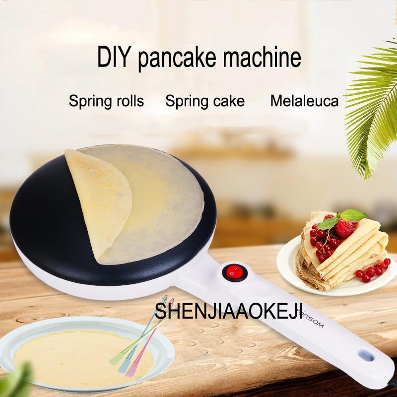 Home pizza machine Chunbing spring roll skin machine DIY pancake pan Cast aluminum pancake machine 220V 700W 1pc