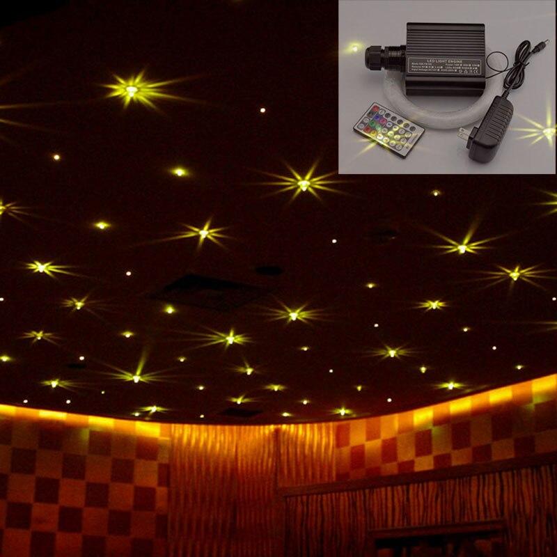 LED Optical Fiber Lights 16W RGBW Star Ceiling Kit 28key Remote Control Illuminator Wedding Stage Decoration Lights