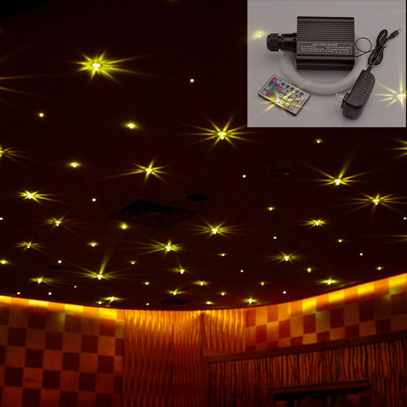 LED Optical Fiber Lights 16W RGBW Star Ceiling Kit light 75mm 250pcs*3m+1mm 50pcs*2m+2mm 10pcs*2m fibers+28key Remote Control mahmoud m ragab nazmi a mohammed and moustafa h aly wavelength conversion using nonlinear effects in optical fibers