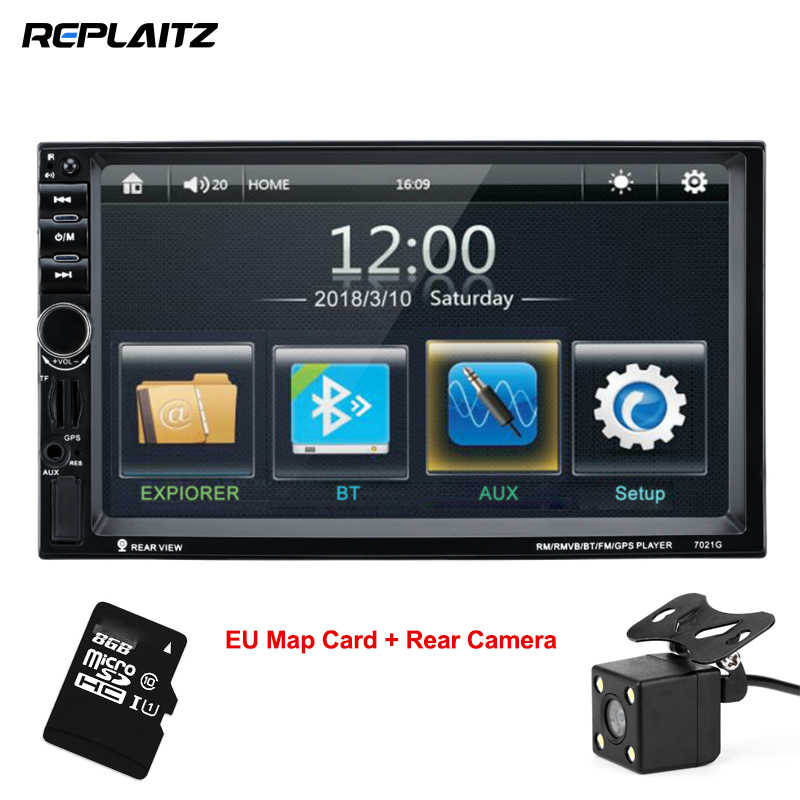 7021G 2 Din Car MP4/MP5 Radio Player 7inch Touch Screen With