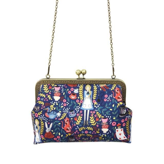 Alice in Wonderland Crossbody Bags for Women Handbag Fashion Cartoon Ladies Chain Party Shoulder Bag Messenger Bags