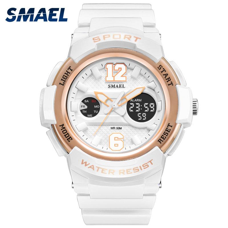 2017 Ladies Watch LED Waterproof Rose Gold White Women Watch Top Brand Quartz Watch Bracelet 1632 Relogio Feminino Girls Watches|watch brand|watch led|watch led waterproof - title=