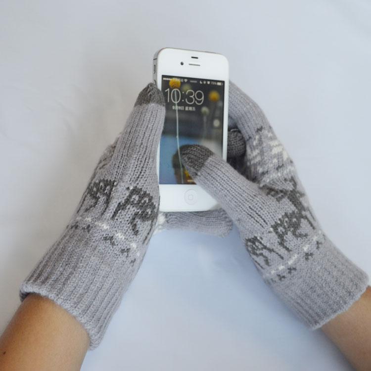 купить 1 pair gray glove Touch Screen Magic Gloves Women and men daily life дешево