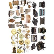 2 teile/los Vintage Schreibmaschine Trivia Deco DIY Planer Aufkleber Album Mohamm Journal Aufkleber Nette Schreibwaren School Stuff