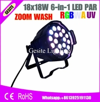 Indoor par can  stage event & concert light  18pcs zoom 6in1 rgbwa uv led par stage decoration led par light