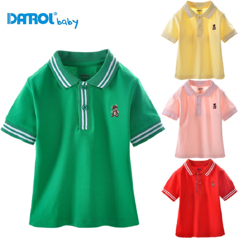 Baby Toddler Kids Boys Shirt Short Sleeve Turn Down Collar Cotton Tops Clothes