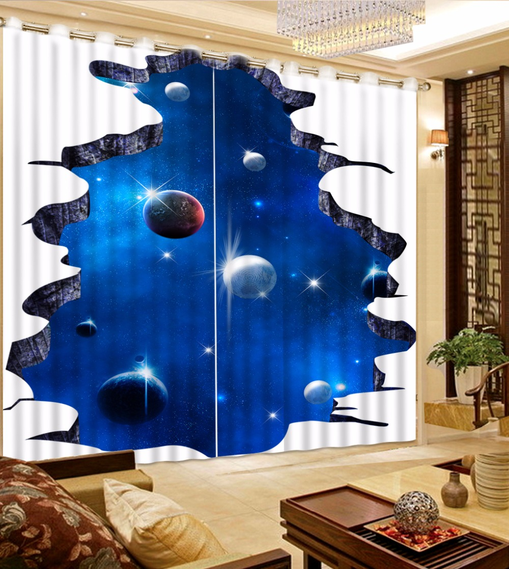 3D Curtains Space Blackout living room bedroom Curtain 3D Curtains Space Blackout living room bedroom Curtain