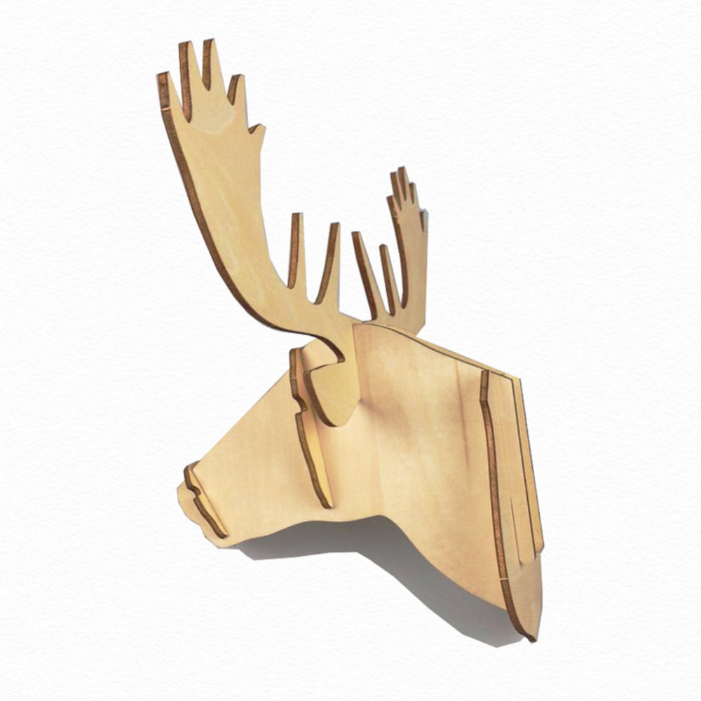 Fine Decorating With Deer Heads On Wall Contemporary - The Wall Art ...