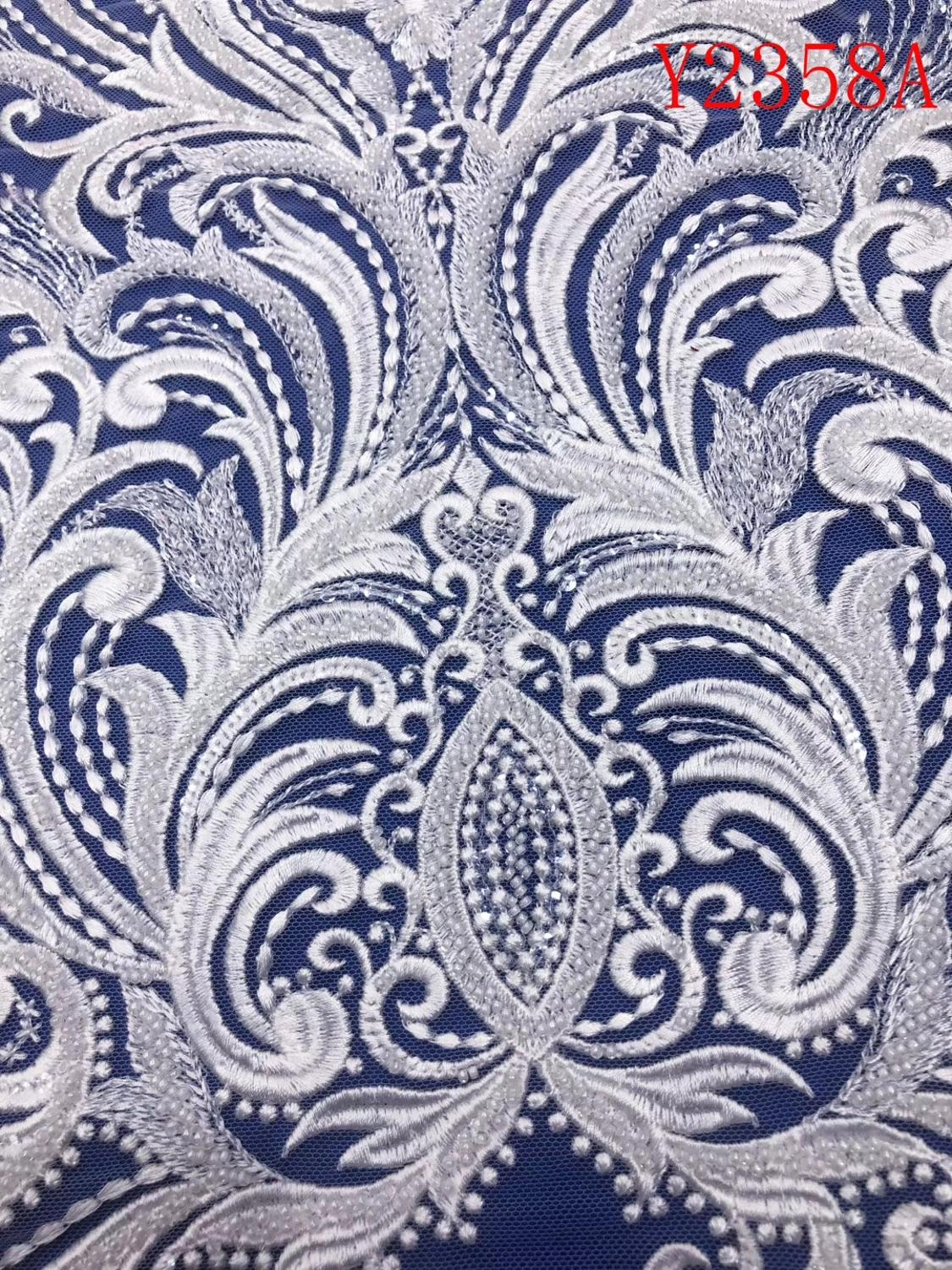 ÒPromoteWedding-Dress Fabric Nigerian-Textile Lace African Y2358A Trimming Embroidery Beaded