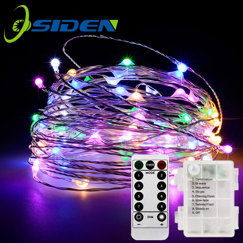 8 Modes 33 Feet 100 Led Fairy String Lights With Battery Remote Timer Control Operated Waterproof Copper Wire Twinkle Light