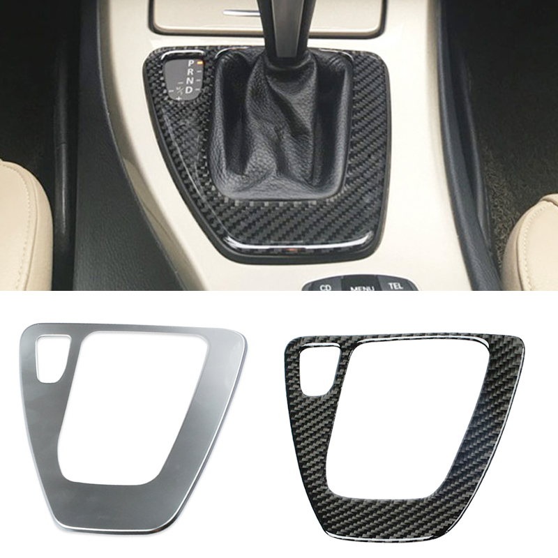 Carbon fiber ABS gear shift panel cover trim gearshift panel frame sticker accessories for BMW 3 Series E90 E92 E93 2005-2012 new carbon fiber for bmw 5 series f10 2011 2017 520li 525li 530li abs center console gear shift panel cover trim car accessories