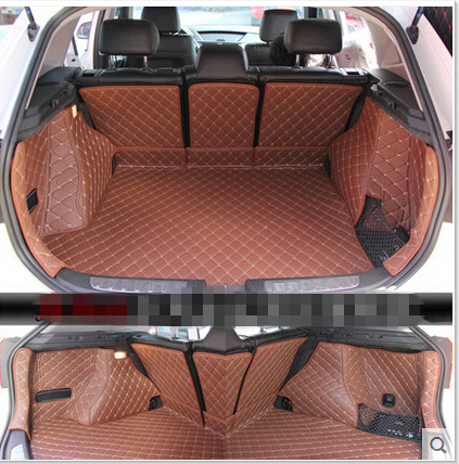 Good mats! Full set car trunk mats for BMW X1 E84 2015-2009 waterproof cargo liner mat boot carpets for X1 2012,Free shipping new children rabbit fur knitted hat winter warm fur hats scarf boys grils real fur beanies cap natural fur hat for kids h 26