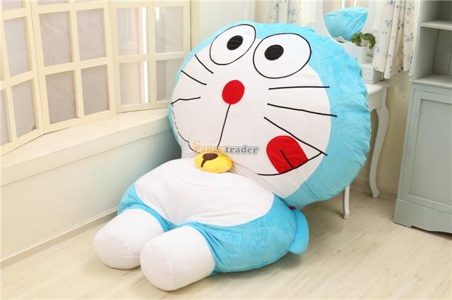 Fancytrader  New Doraemon Bed Cute 200cm X 150cm Huge Giant Doraemon Tatami Bed Carpet Sofa Gift, Model 5 Free Shipping FT90272 fancytrader new style giant plush stuffed kids toys lovely rubber duck 39 100cm yellow rubber duck free shipping ft90122