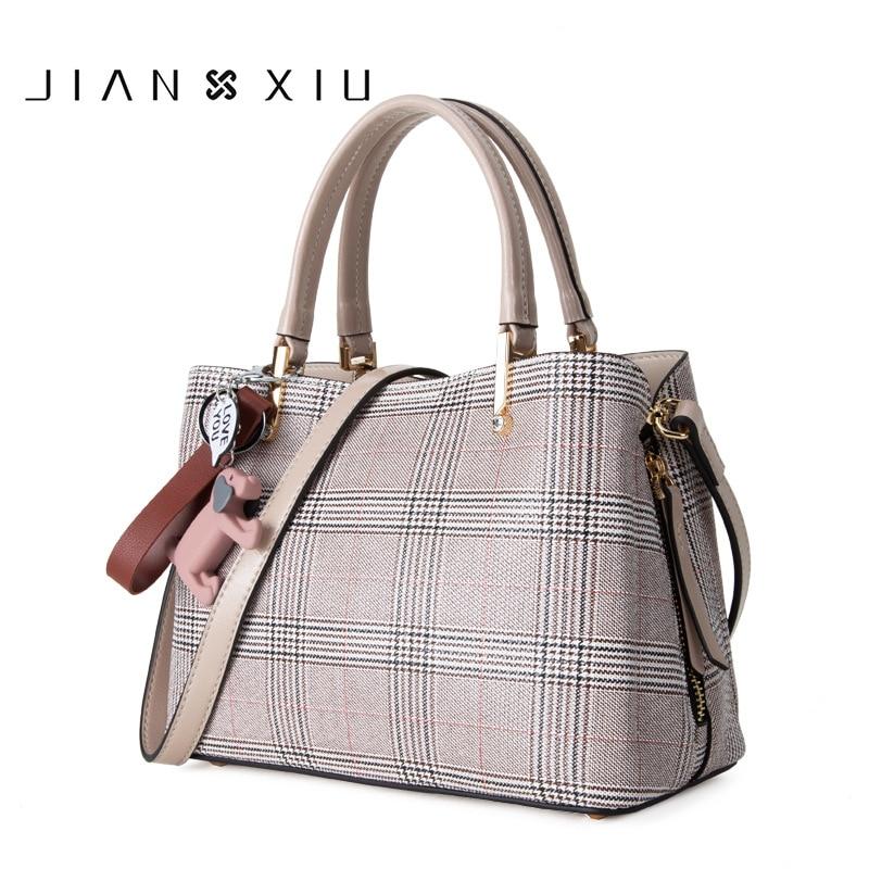 все цены на 2018 New Luxury Women Leather Handbag Hobos Plaid Bolsa Feminina Sac a Main Bolsos High Quality Black Shoulder Bag For Ladies онлайн