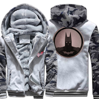 Autumn Winter Thick Hoodies For Men 2018 High Qaulity Hooded Hoddie Sweatshirts BATMAN Movie Harajuku Men's Hoody Coat Tracksuit