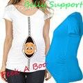 """""""Bebé que asoma"""" superior camisa de maternidad embarazo clothing gran regalo barato camisetas ocasionales más el tamaño xxl envío gratis"""