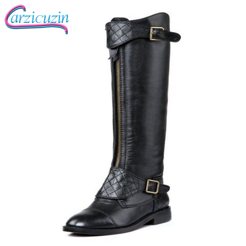Carzicuzin Free shipping over knee long boots real genuine leather boots women boot high heel shoes R5468 EUR size 34-39 free shipping over knee long high heel boots women snow fashion winter warm footwear shoes boot p15455 eur size 34 39