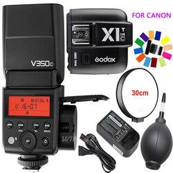 Godox V350C TTL HSS 1/8000s GN36 2000mAh Lithium Battery Camera Speedlite Flash+X1T-C Trigger for Canon 1DX Mark II,1Dx,5Ds,5Dsr