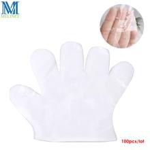 100pcs lot Disposable Gloves One off Transparent Plastic Gloves Multifunction Household Garden Restaurant Sanitary Gloves