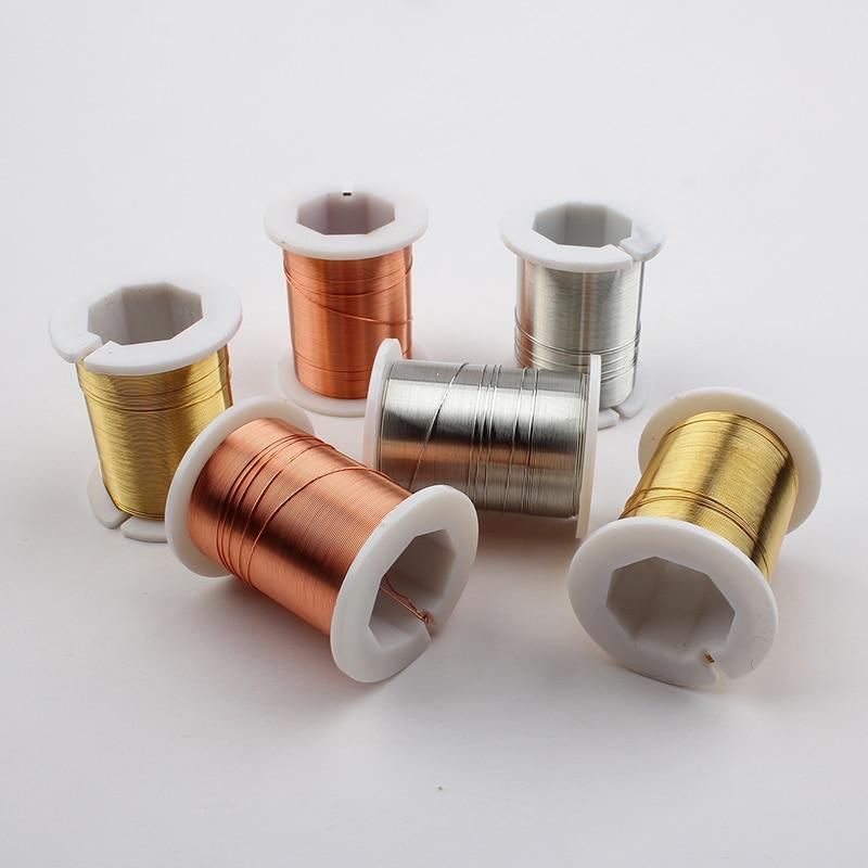 26ga - 1pc 0.3mm 28ga 0.4mm 26ga 0.5mm 24ga Silver Gold Copper Wire Jewelry Making Soft Beading Wrapping Wire Thread Tarnish Resistant