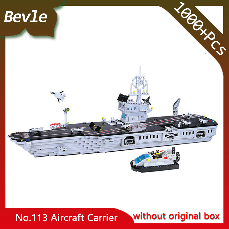 Bevle Store Lepin 113 1000Pcs Police Series Sea Aircraft Carrier Helicopter Model Building Blocks set Bricks For Children Toys