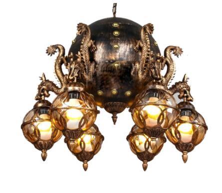Klassieke kraan grote Hanglampen hotel lobby iron globe retro ...