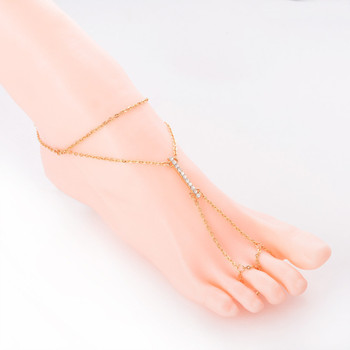 Crystal Shining Barefoot Sandals Anklet Bracelet for Women Rhinestone Bridal Toe Ankle Foot Chain Jewelry Beach Wedding A5 4