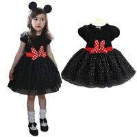 Dollbling 3-8Y Cô Gái Mouse Dress Bé Kid Cô Gái Công Chúa Quần Áo Cartoon Đảng Minnie Ăn Mặc Cho Cô Gái Toddler