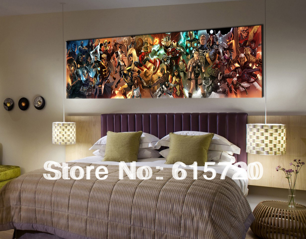 Wall Decor For Men comics spiderman superman iron man rassomaha x men picture art