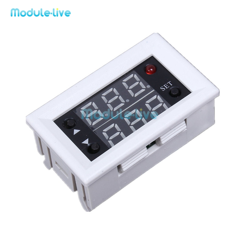 Mini 12V 20A Digital LED Dual Display Timer Relay Module Timing Delay Cycle dc 12v led display digital delay timer control switch module plc automation new