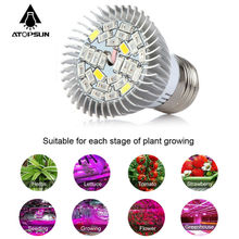1pcs Full Spectrum Led Grow Light E27 28W Led Growing Lamp for plant Flower Plant Hydroponics System aquarium Led lighting