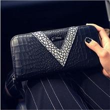 Ms. wallet female long section of the new zipper wallet fashion wallet women wallet card hand bag phone package women's purse