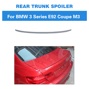 Auto Car Rear Spoiler Trunk Boot Lip Wing For BMW 3 Series E92 Coupe M3 2007 - 2012 Unpainted PU Grey Primer image