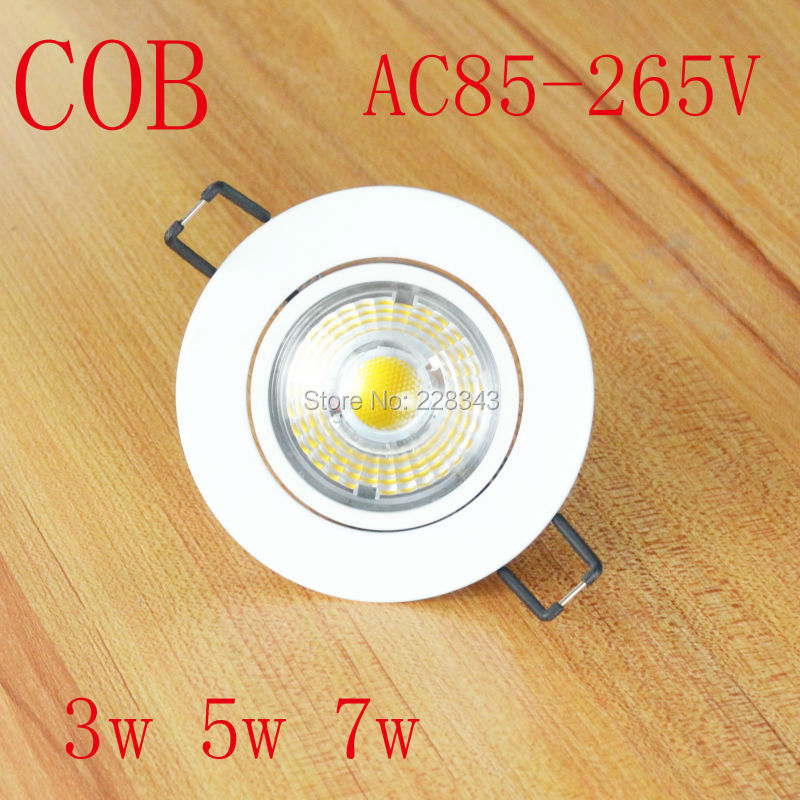 10pcs / lot LED PFEILER downlight Dimmable vertiefte 3w 5w 7w LED - Innenbeleuchtung