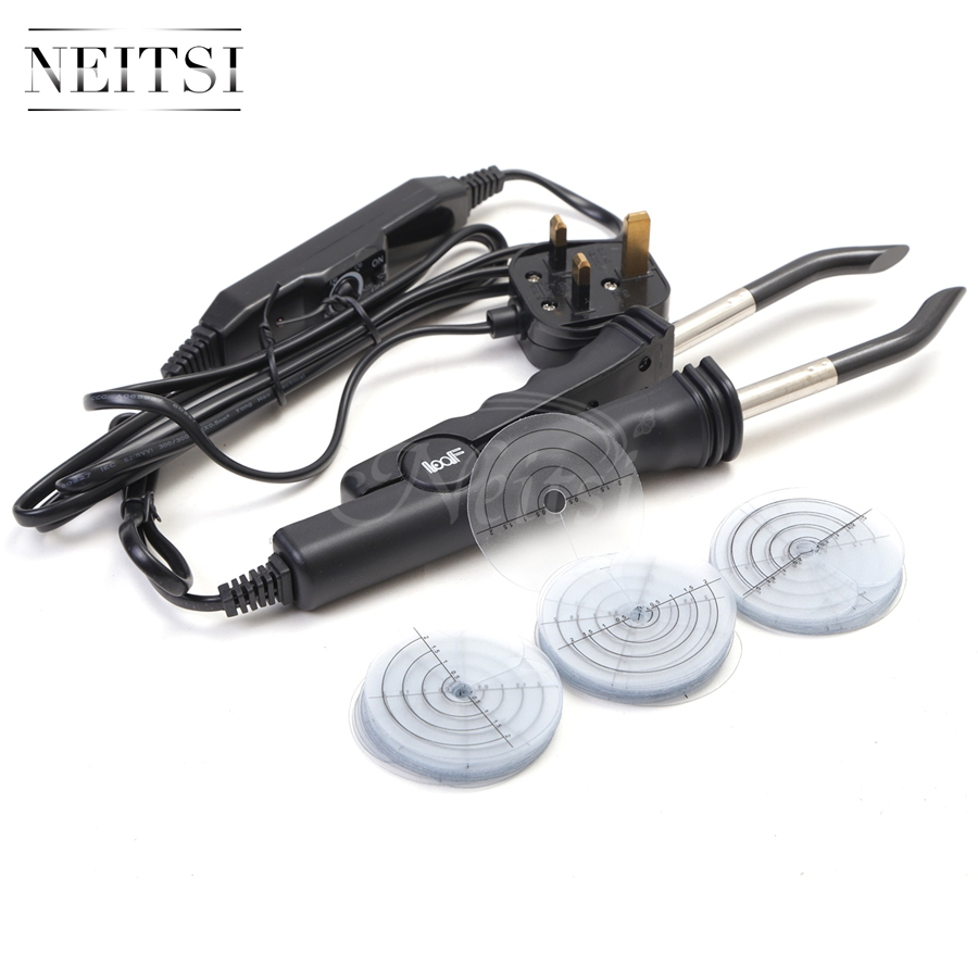 Neitsi 50pcs Heat Protector Professional Consistent Temperature Adjustment Hair Extension Fusion Iron UK Standard Plug Connector in Connectors from Hair Extensions Wigs