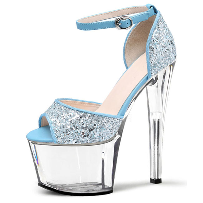 17 cm super high heels heel nightclub sexy Hate day high performance shoes flash powder color matching and crystal sandals high performance and high throughput bioinformatics
