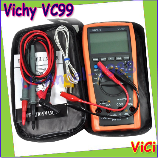 ФОТО Free shipping Vichy VC99 3 6/7 Auto range digital multimeter with bag Vici VC99 +Probe Test Leads for gift