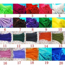 100pcs/lot 12 Inches Assorted Colors Shiny Chenille Stems Metallic Pipe Cleaner Tinsel Stems Wired Sticks DIY Craft Supplies 100pcs chenille wire plush chenille stems iron wire diy art craft sticks party decor pipe cleaner 6mm x 12inch assorted colors
