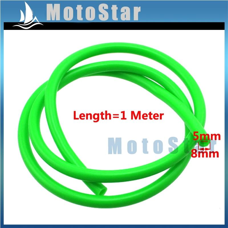 STONEDER 5mm kuro žarnos linija Žalia 1 metro vamzdis su duobių varikliu dviračiu