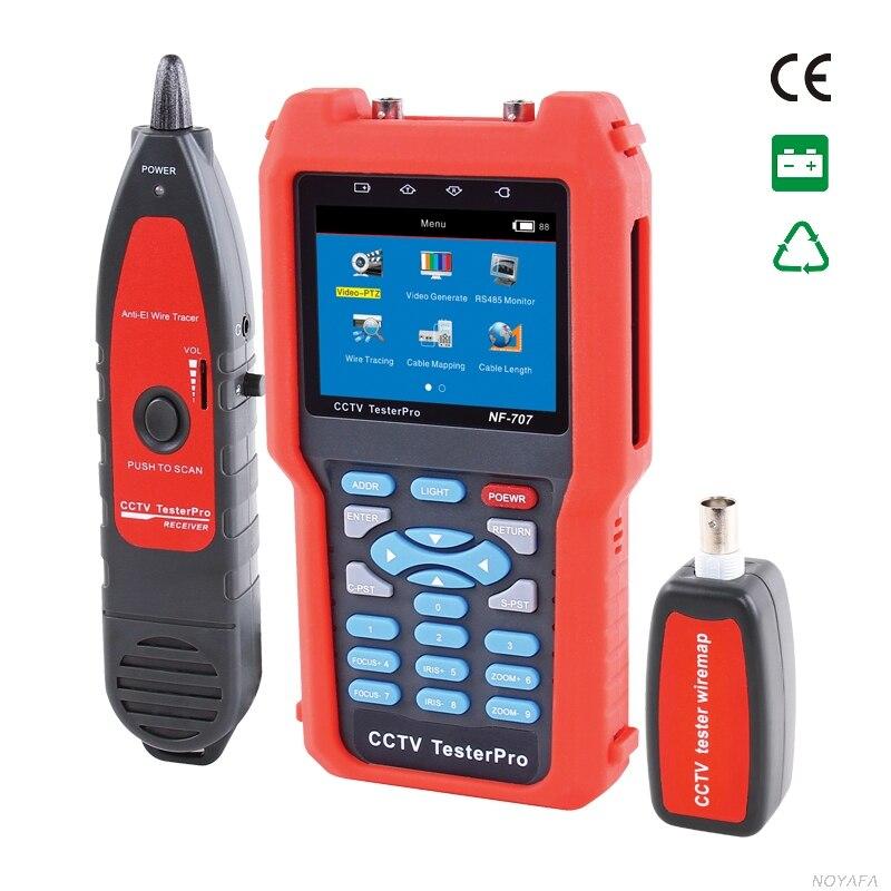 Аналоговый и CVBS signaland видео сигнала тестер с Кабельный тестер tracker измеритель оптической мощности для проверки потери волокна NOYAFA NF-707