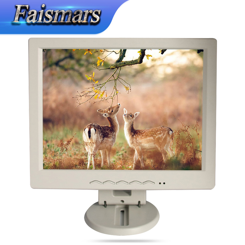 Small sizes 12.1 inch Plastic LCD Monitor USB Port Reading Data 12 inch 1024*768 Cheapest Monitor for POS Terminal