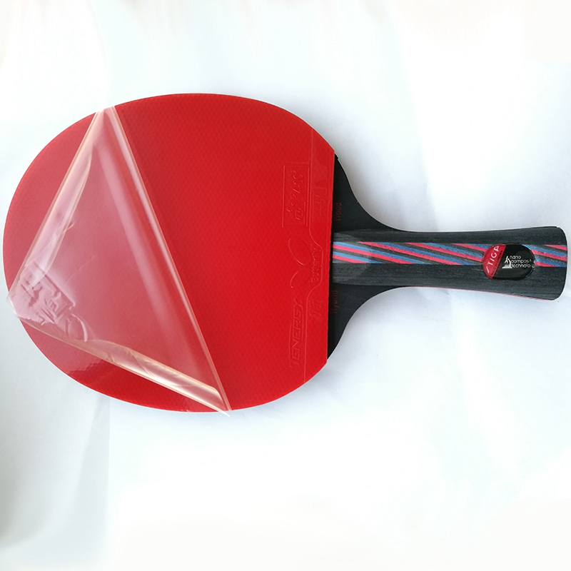 Lemuria best quality professional long and short handle grip table tennis racket shake hand pingpong racket paddle rubber bats winmax wmy52415z1 professional quality 5 star long handle table tennis racket bat red black