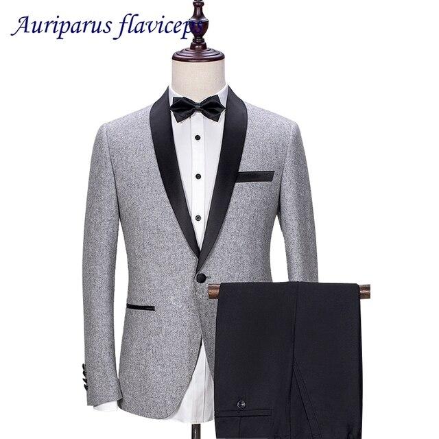 Veste costume grise pantalon noir