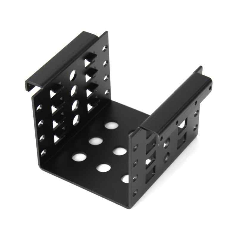 High Quality Black Anodized Aluminum 4 Bay 2.5 in SATA HDD SSD to 3.5 in Bracket Adapter Hard Drive Disk Mounting Converter Kit