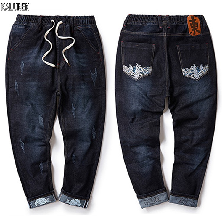 87 8XL 52 Big Size Mens Jeans Stretch Summer Lightweight Thin Denim Trousers Blue Denim Jeans For Man Fashion Trousers Pants