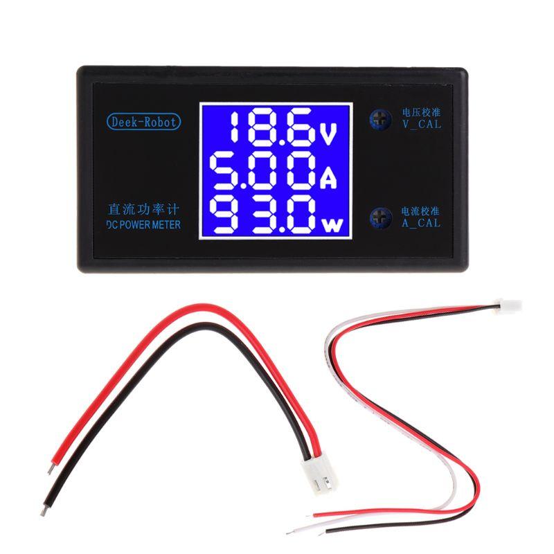 DC 0-50V 5A 250W Voltmeter Ammeter Wattmeter LCD Panel Voltage Amp Power Meter mhf 120200p multifunction high power wireless lcd digital dc voltmeter ammeter power meter wattmeter ovp ocp 0 120v 200a