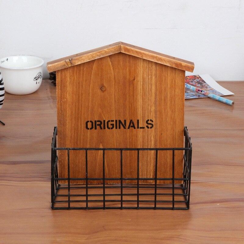 Vintage Retro Holz Regal Von Einrichtungs Eisen Mit Holz Eigenschaften  Lagerregal, Wohnzimmer/balkon Wand