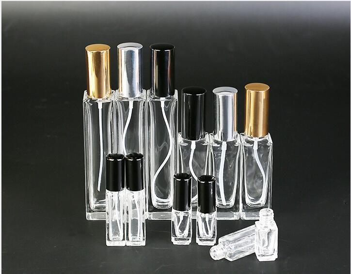 3ml 10ml 20ml 30ml 50ml Portable Glass Refillable Perfume Bottle With Aluminum Atomizer Empty Parfum Case For Traveler