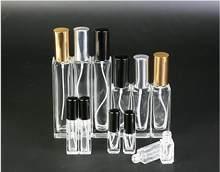 Flacon de Parfum rechargeable en verre, 3ml, 10ml, 20ml, 30ml, 50ml, avec atomiseur en aluminium, pour les voyageurs