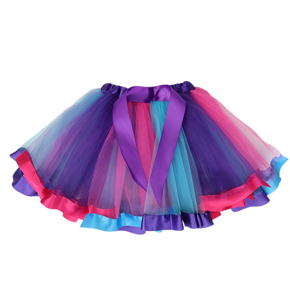 Girl Baby Cute Colorful Rainbow Mesh Princess Skirt for Holiday Party in Skirts from Mother Kids